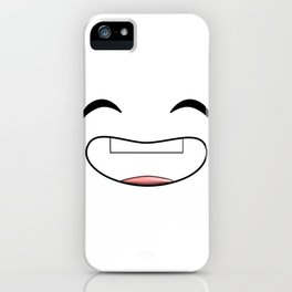 Lol Face Big Laughing Face Be Happy Love Your Life iPhone Case