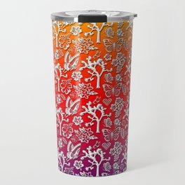 Rainbow White Joshua Tree by CREYES Travel Mug