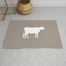 Cow: Beige Rug