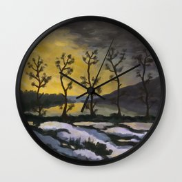 Forever lonely trees (The Danish Girl interpretation) Wall Clock