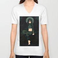 clover V-neck T-shirts featuring Clover by Nano Rain