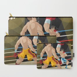 boxer performing an uppercut punch on opponent Carry-All Pouch