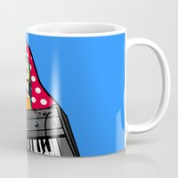 lichtenstein Mugs featuring Röyksopp Forever Roy Lichtenstein Inspired Portrait 2 by Alli Vanes