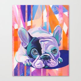 Frenchie Puppy Canvas Print