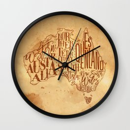 Map Australia vintage craft Wall Clock