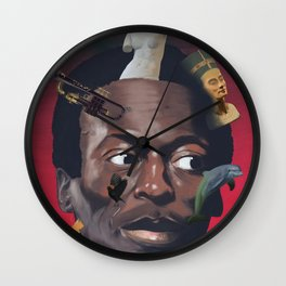 Miles totems around his head Wall Clock