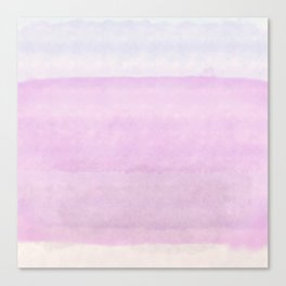 Pastel pink lilac ivory ombre watercolor Canvas Print