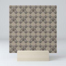 Nola fleur de lis triple brown Mini Art Print