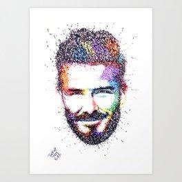 BECKHAM Art Print