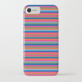 Fall Candy Stripes iPhone Case
