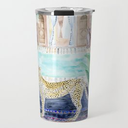 Cheetah Cat in Morocco Travel Mug