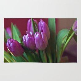 Pink Tulip Poetry Rug