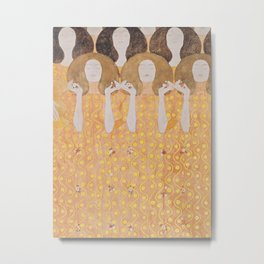 Gustav Klimt - Choir of Angels (Chor Der Paradiesengel) Metal Print