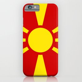 Macedonian Flag - Flag of Macedonia iPhone Case
