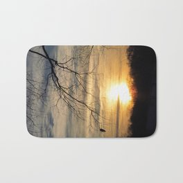 Winter's Caress of Sleeping Life Bath Mat