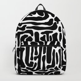 Black and White Blog System Backpack