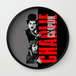 Charlie Chaplin and the little girl apple iPhone 4 4s 5 5s 5c, ipod, ipad, pillow case and tshirt Wall Clock