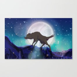 Prowling Wolf Canvas Print