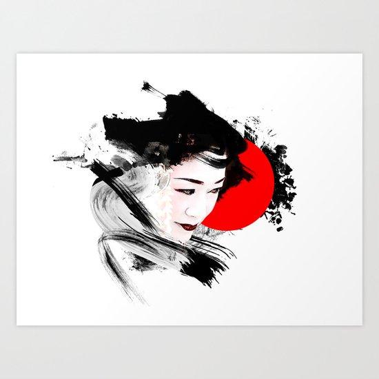 Japan - Kyoto - Geisha Art Print