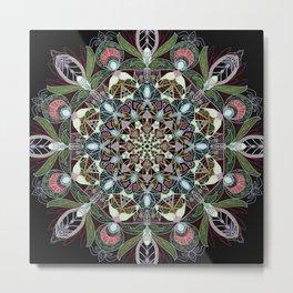 Black Mandala Metal Print