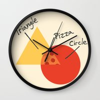 college Wall Clocks featuring A College Venn Diagram by Brandon Ortwein