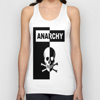 anarchy Tank Tops featuring ANARCHY SKULL by shannon's art space