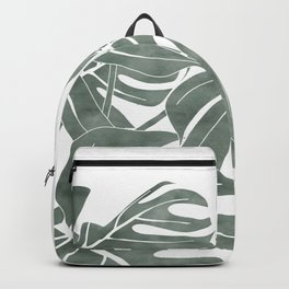 minimalist tropical plant Backpack