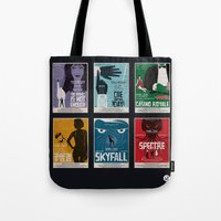 bond Tote Bags featuring Bond #4 by Alain Bossuyt