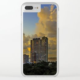 Good Moring Miami Clear iPhone Case