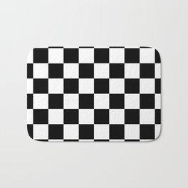 Black White Checker Bath Mat