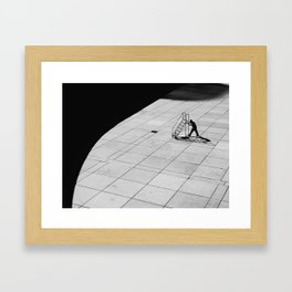 Stairway to nowhere Framed Art Print