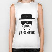 breaking Biker Tanks featuring Heisenberg - Breaking Bad Sketch by Bright Enough💡