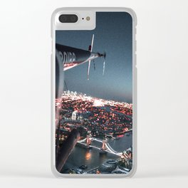 helicopter in london Clear iPhone Case