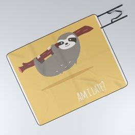 Sloth card - Am I late? Picnic Blanket