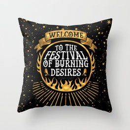 Daughter of the Burning City - Amanda Foody - Black Throw Pillow
