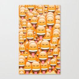 CHEEKY FACE EMOJI Canvas Print