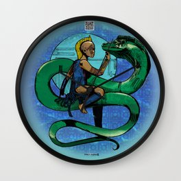 Moray Serpentine of the Deep Wall Clock