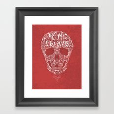 No One But Death (Shall Part Us) Framed Art Print