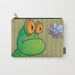 Frog and Dragonfly Carry-All Pouch
