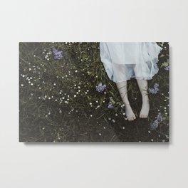 Floral legs Metal Print