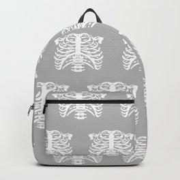 Human Rib Cage Pattern Gray Backpack