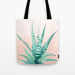Desert Succulent Aloe Vera Tote Bag