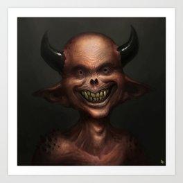 Smiley Imp Art Print