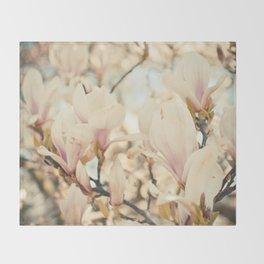 Magnolia and Cream Throw Blanket