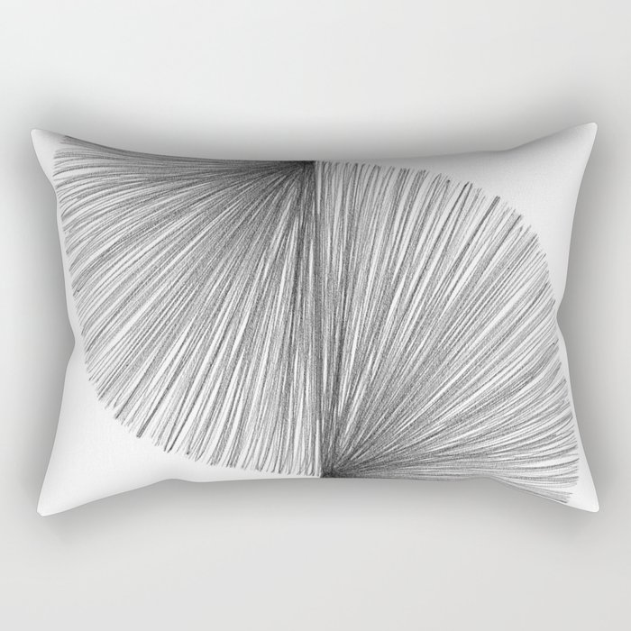 Mid Century Modern Geometric Abstract S Shape Line Drawing Pattern Rectangular Pillow