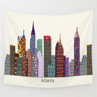 atlanta Wall Tapestries featuring Atlanta city  by bri.buckley