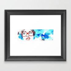Cara de asco Framed Art Print