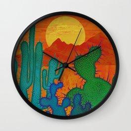 Desert Sun 2 Wall Clock