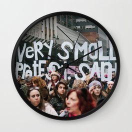 A Very Small Protest. Wall Clock