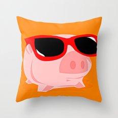 Cool Pig Throw Pillow